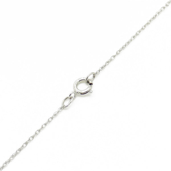 9ct White Gold Certified 0.20ct Round Diamond Claw-set Pendant & Chain Fastening