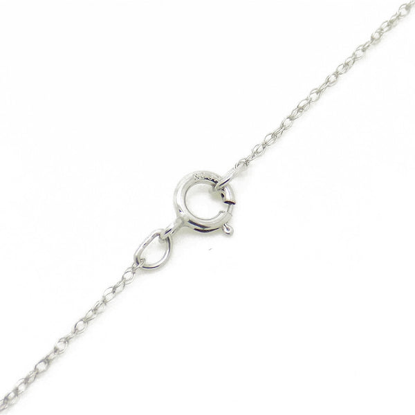 9ct White Gold Certified 0.25ct Round Diamond Claw-Set Chain Fastening