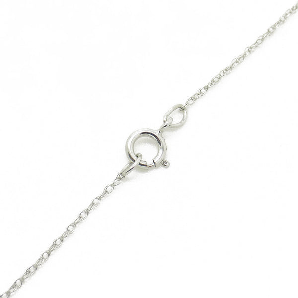 9ct White Gold Certified 0.30ct Round Diamond Claw-Set Pendant & Chain Duplicate Fastening