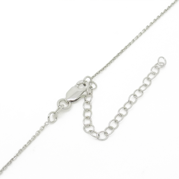 'Hush' Jewels Sterling Silver Cubic Zirconia 'Eye' Pendant & Chain - Clasp Detail