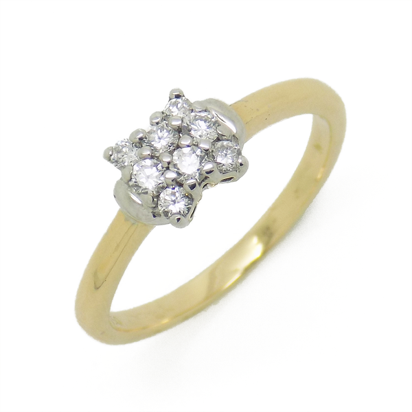 Pre-Loved 18ct Yellow Gold Diamond Set Cluster Ring