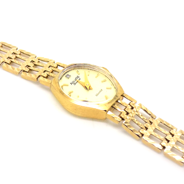 Pre-Loved 9ct Yellow Gold Ladies Accurist Watch
