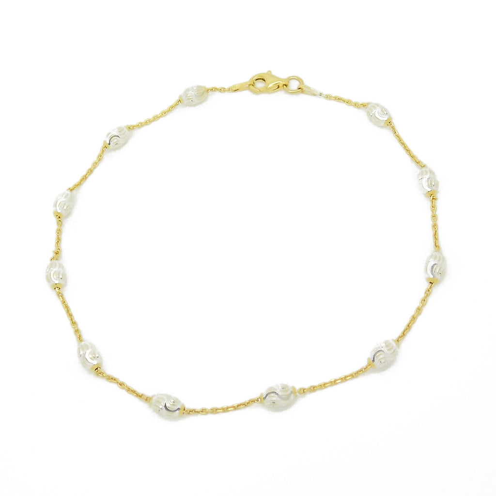 swarovski crystals gold collections jewellery crystal anklet her pearl yellow ankles