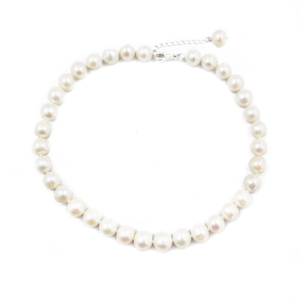'Lido' Single Row 12-14mm White Freshwater Pearl Necklace