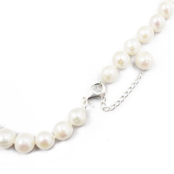'Lido' Single Row 12-14mm White Freshwater Pearl Necklace Fastening