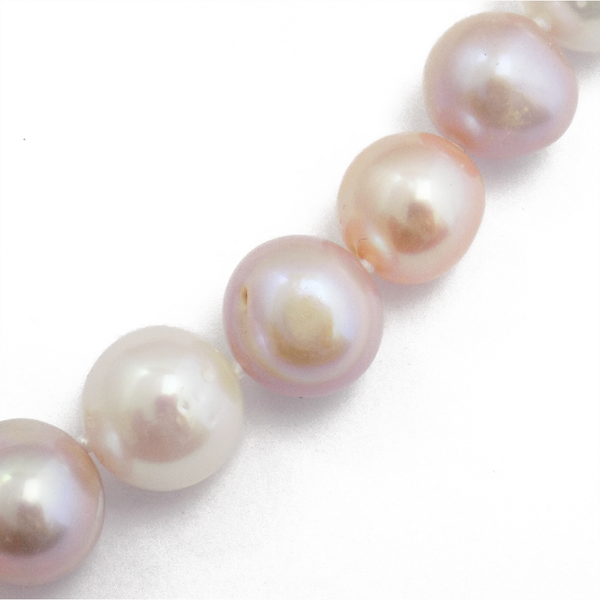 'Lido' Pearls Single Row Pink/Peach 12-14mm Freshwater Pearl Necklace Detail