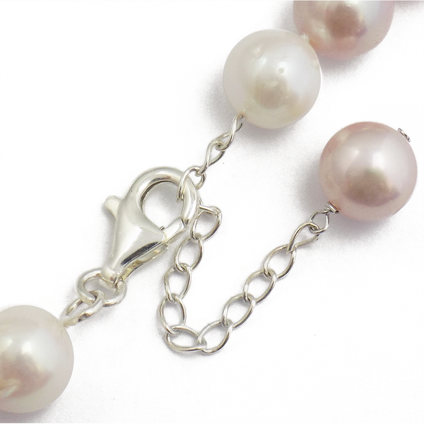 'Lido' Pearls Single Row Pink/Peach 12-14mm Freshwater Pearl Necklace Clasp