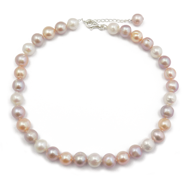 'Lido' Pearls Single Row Pink/Peach 12-14mm Freshwater Pearl Necklace