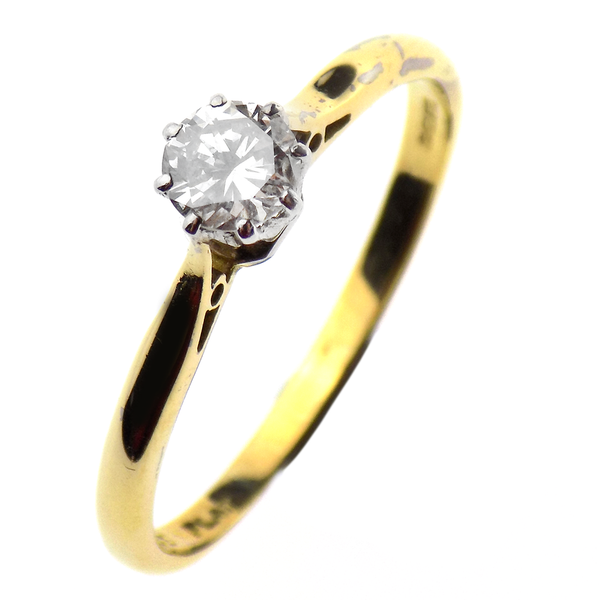 Pre-Loved 18ct Yellow Gold Single 0.40ct Diamond Ring