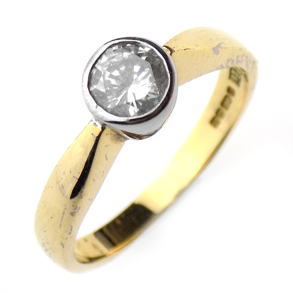 Pre-Loved 18ct Yellow & White Gold 0.40ct Diamond Ring