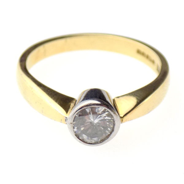Pre-Loved 18ct Yellow & White Gold 0.40ct Diamond Ring Front