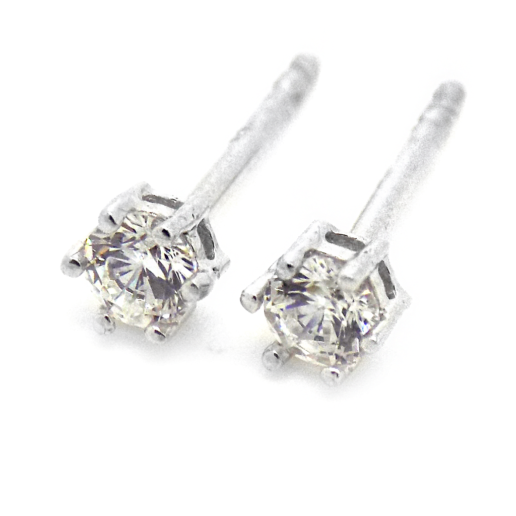 4426ad360 9ct White Gold 3mm CZ Claw Set Stud Earrings – Atkinsons The Jeweller