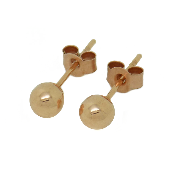 9ct Rose Gold 4mm Ball Stud Earrings