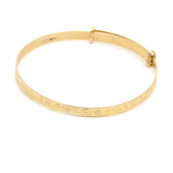 9ct Yellow Gold Child's Christening Expanding Bangle