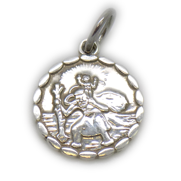 Sterling Silver Double Sided St Christopher Pendant