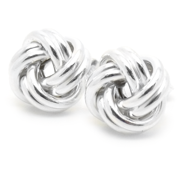 Sterling Silver Medium Knot Stud Earrings