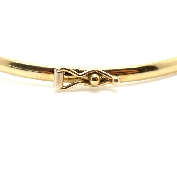 9ct Yellow & White Gold CZ Infinity Hollow Bangle