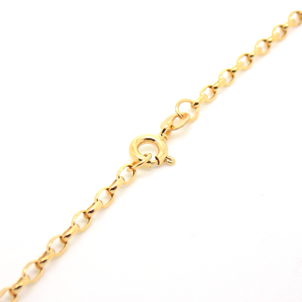 "9ct Yellow Gold 24"" Hollow Belcher Link Chain Reverse"