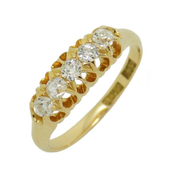 Pre-Loved 18ct Yellow Gold Five Stone Diamond Ring