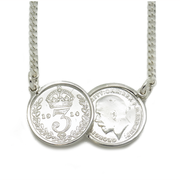 Gold silver celebrity pendants tagged chain atkinsons the sterling silver double coin celebrity pendant 17 aloadofball Images