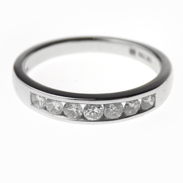 18ct White Gold Seven Stone Round Diamond Eternity Ring Front