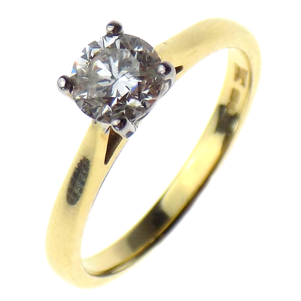 Pre-Loved 18ct Yellow Gold 0.65ct Single Diamond Ring