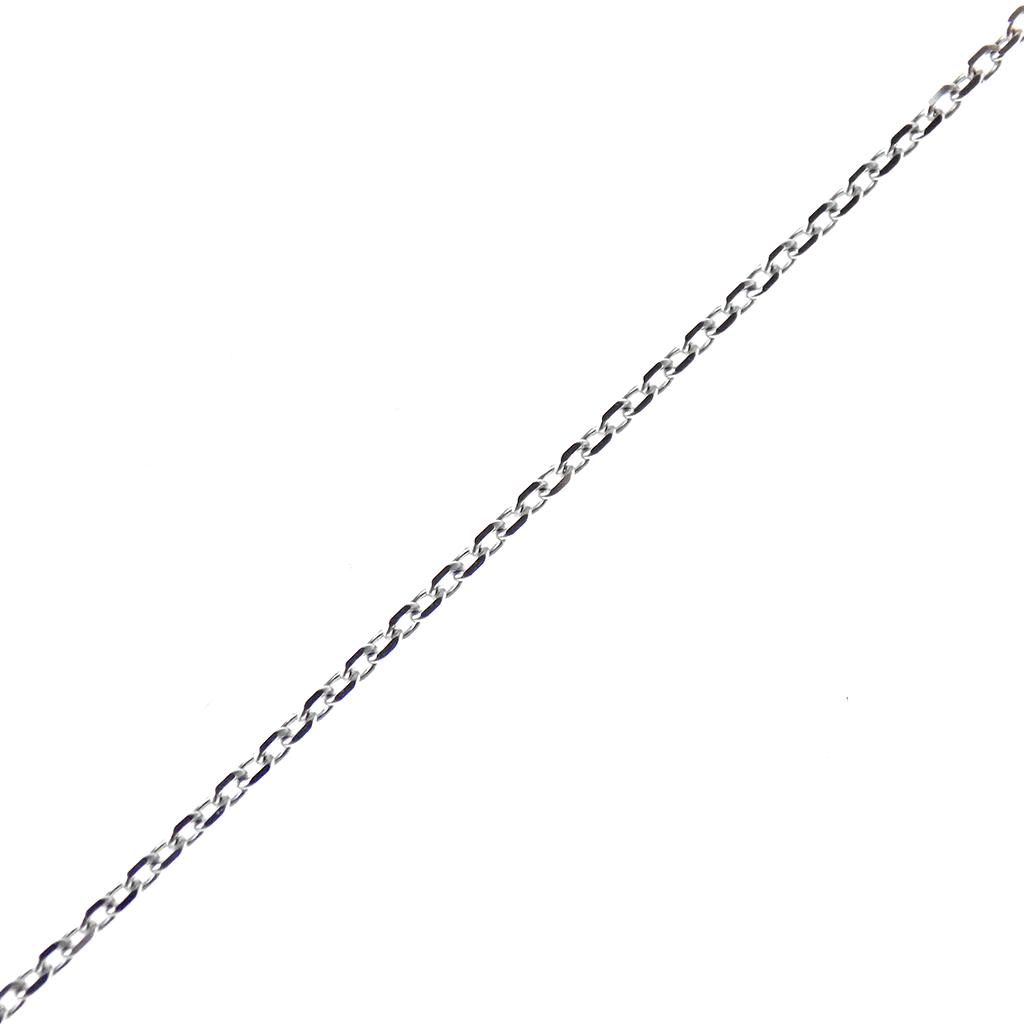 "9ct White Gold 16"" Rolo Chain with Extension Chain"