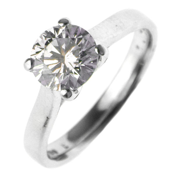 Pre-Loved 18ct White Gold 1.02ct Single Diamond Ring