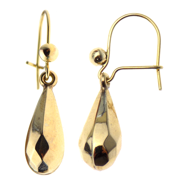 Pre-Loved 9ct Yellow Gold 'Bomb' Style Drop Earrings