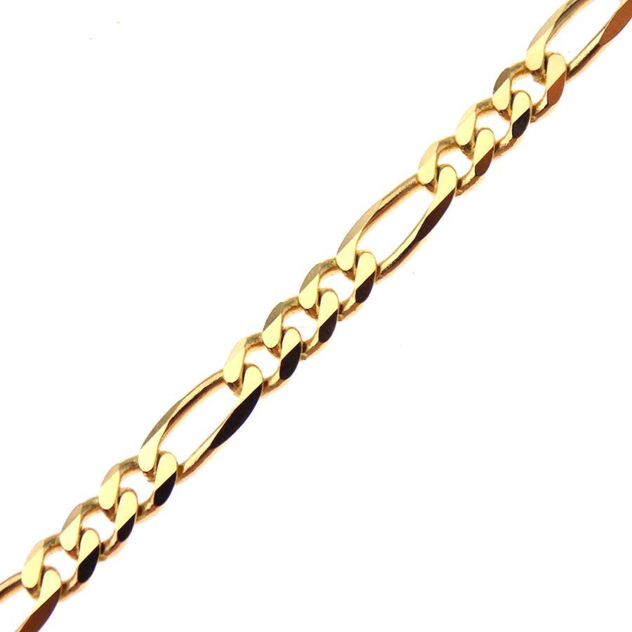 "9ct Yellow Gold 20"" Figaro Link Chain"