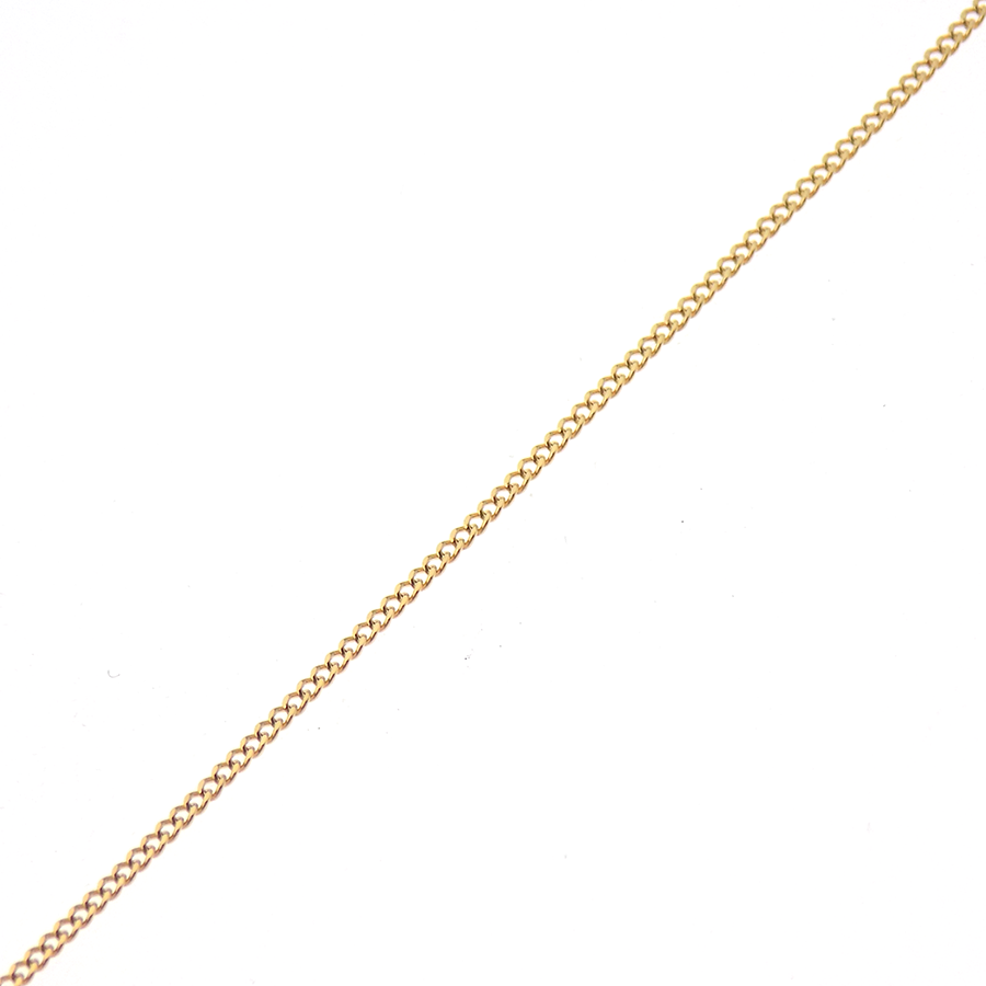 "9ct Yellow Gold 16"" Fine Curb Chain"
