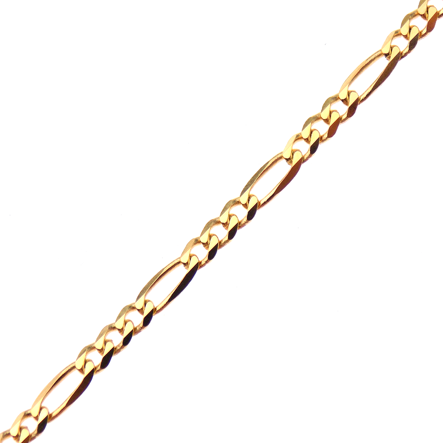 "9ct Yellow Gold 22"" Figaro Link Chain"
