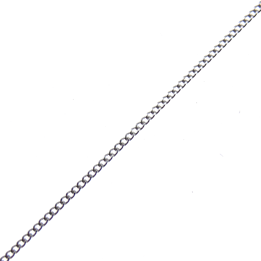 "9ct White Gold 18"" Fine Curb Link Chain"