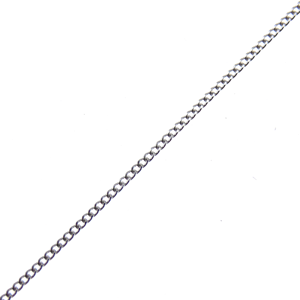"9ct White Gold 16"" Fine Curb Link Chain"