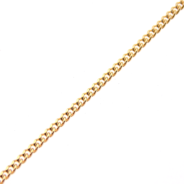 "9ct Yellow Gold 22"" Open Flat Curb Link Chain"