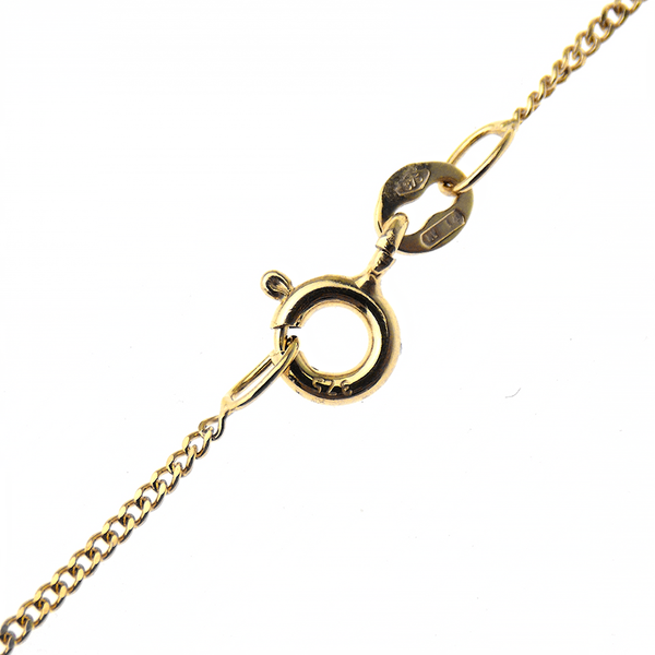 "9ct Yellow Gold 16"" Fine Curb Chain Fastening"