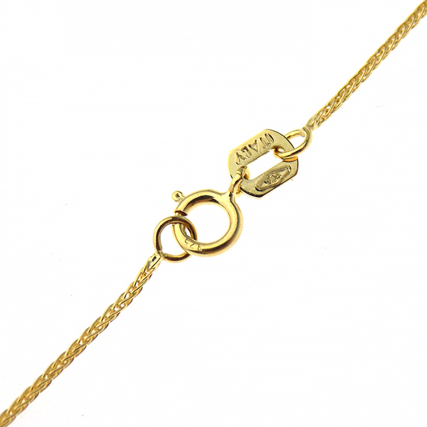"9ct Yellow Gold 16"" Spiga Link Chain Fastening"