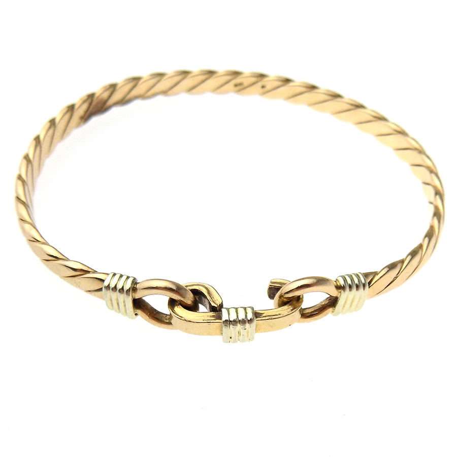 9ct Yellow Gold Rope Bangle