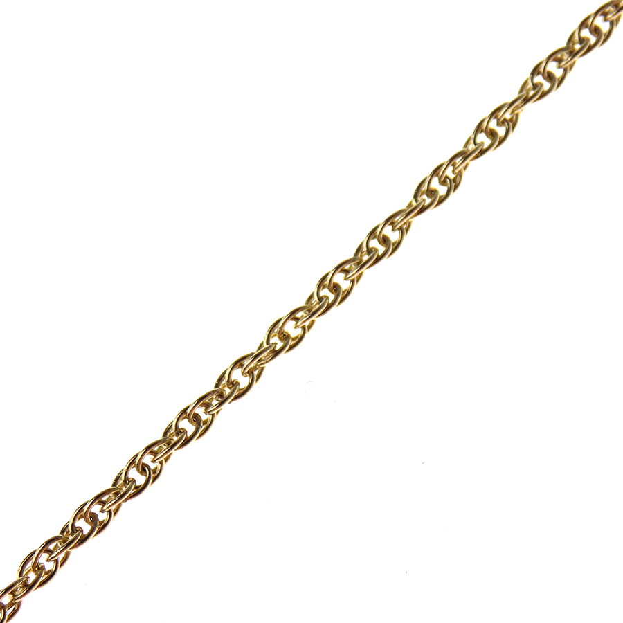 "9ct Yellow Gold 18"" Fine Rope Chain"