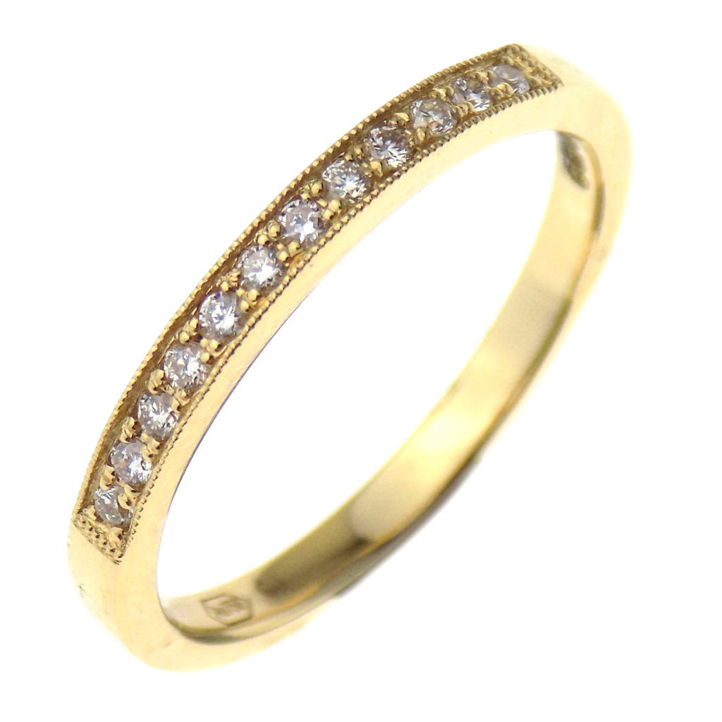 18ct Yellow Gold 0.14ct Diamond Eternity Ring