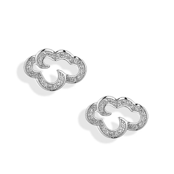 'Vixi' Sterling Silver CZ Small Daydream Stud Earrings