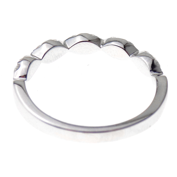 18ct White Gold Diamond Marquise Eternity Ring Reverse
