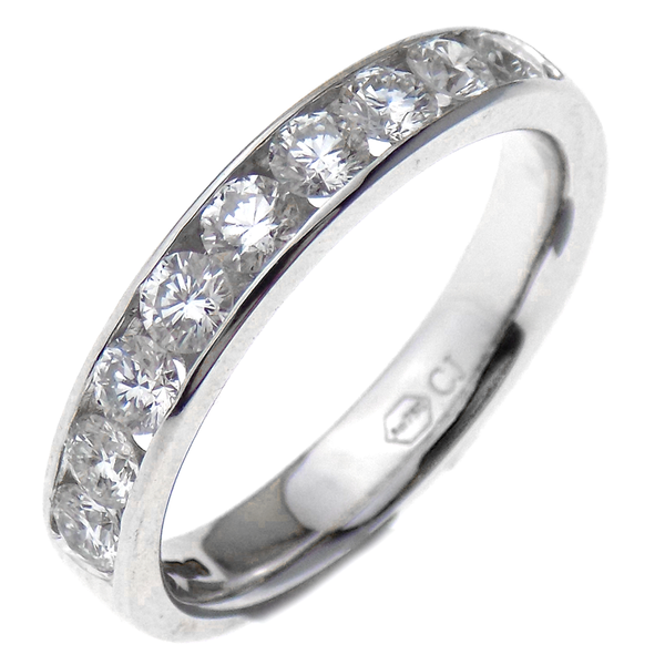 18ct White Gold 0.85ct Diamond Channel Set Eternity Ring