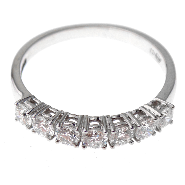 18ct White Gold 0.65ct Diamond Eternity Ring Front