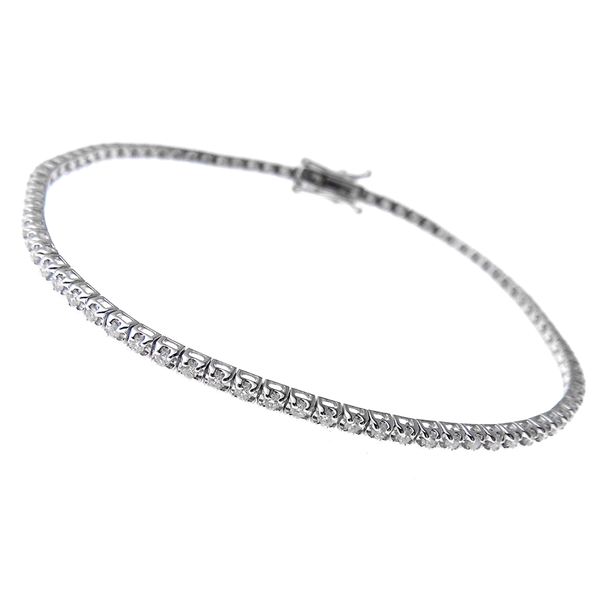 18ct White Gold 0.87ct Diamond Tennis Bracelet