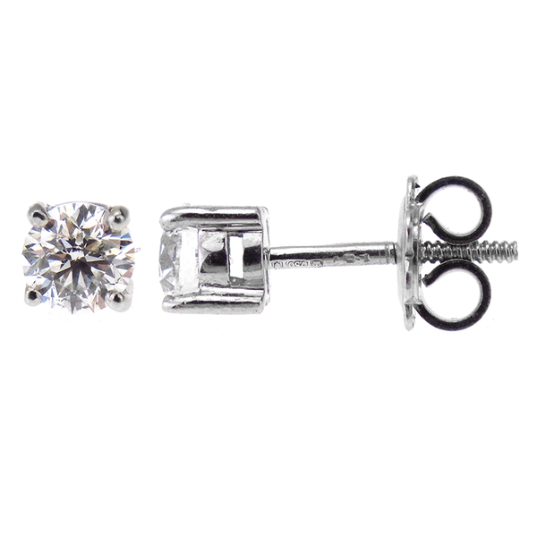 Pre-Loved 18ct White Gold 1.00ct Diamond Stud Earrings