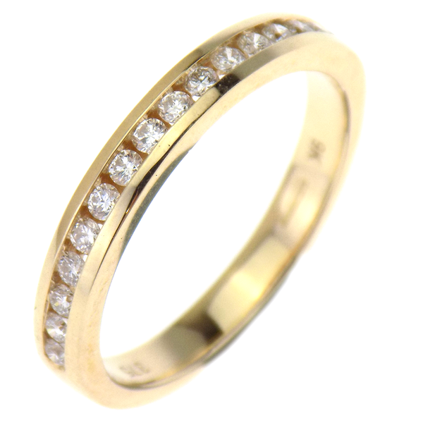 9ct Yellow Gold 0.26ct Diamond Half Eternity Ring