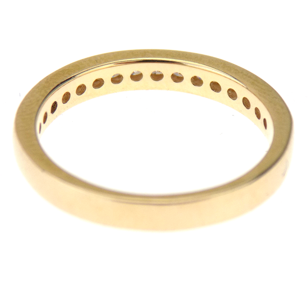 9ct Yellow Gold 0.26ct Diamond Half Eternity Ring Reverse