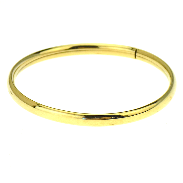 9ct Yellow Gold Round Hollow Bangle