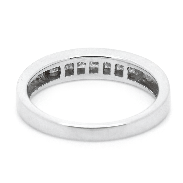 18ct White Gold Seven Princess-Cut Diamond Eternity Ring Reverse